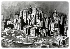 New York city BW by Zairaam