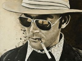hunter s thompson by nickoyh