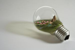 Mermaid in bulb by onestepfromheaven