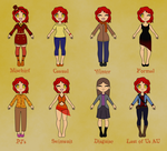 Gina outfits by Lilacatz