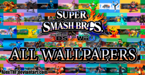 ALL WALLPAPERS PACK - Super Smash Bros. Wii U/3DS by AlexTHF