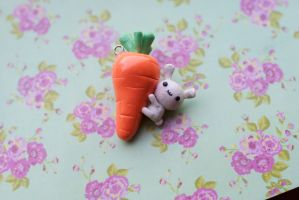 Bunny with a Giant Carrot by ChloeeeeLynnee97