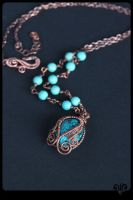 Turquoise necklace by ViKiV