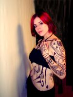 The Tattooed Redhead by Baroque-Doll
