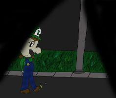 Luigi: Fighting Stance by xXsamluvsgreendayXx
