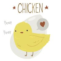The Cute Yellow Baby Chicken by lemon5ky