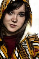 Ellen Page Colored by JunebugHardee