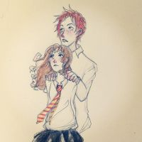 Ron and Hermione by snowfake