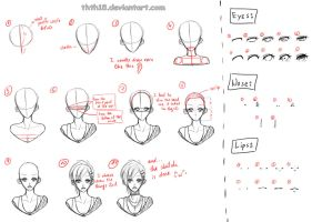 Draw a girl - tutorial by thth18