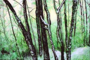 Green and White by scylla