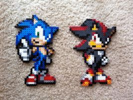 Sonic and Shadow by Night-TAG