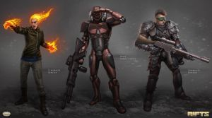 Savage RIFTS characters group 1 by AlMaNeGrA