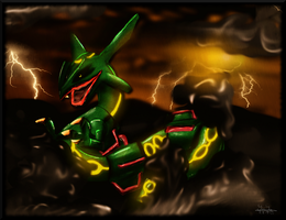 Rayquaza by Ilona-the-Sinister
