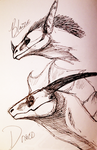 Blaize and Draco sketches by BloodLust-Carman