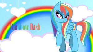 Wallpaper Rainbow Dash sexy flyer by Barrfind