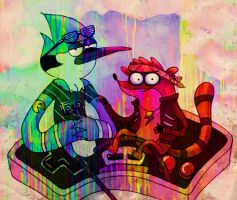 Regular Show, representing the retro gamer by La-maldita