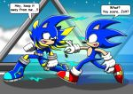 Chased by Sonic the hedgehog by arung98