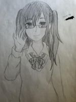 Cute girl with glasses by Lemonthrower