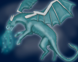 Emerald Dragon by Speck--Of--Dust
