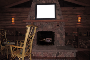 Log Cabin Room Premade by WDWParksGal-Stock
