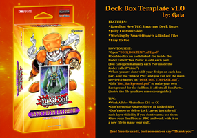 Deck Box Template v1 | TCG 2016 by Gaia206