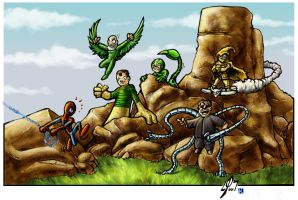 Spidey and friends by KaRzA-76