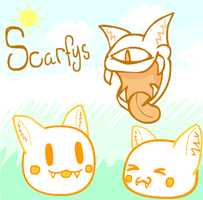 Scarfys by DoodleWill