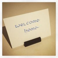 Calligraphy Instagrammed - Welcome Home 2 by MShades