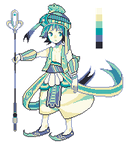 Pixel ADOPT: Frog mage (SOLD) by Sychandelic