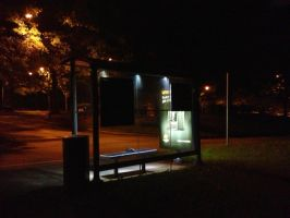 Bus Shelter Noir - Color by wiebkefesch