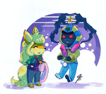 PKMNA - Deck the Cofagrigus with Boughs of Jolly by TamarinFrog