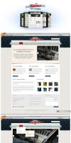 Free Ribbons PSD Template by templay-team