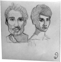 26Aug Portraits doodles by mary3m