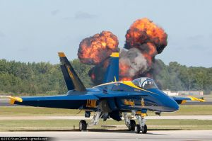 Blue Angles - Explosion by floggerSG