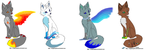 Elemental Fox Adopts - Open - by ThePoisonDragoness