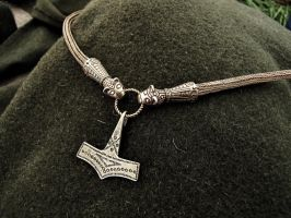 Viking knit with Thor's hammer by CajkaCZ