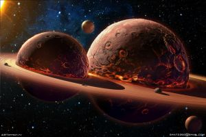 Twins Planets  by swat3d