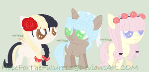 Little Tea Party Pony Adopts :CLOSED: by HopeForTheFuture13