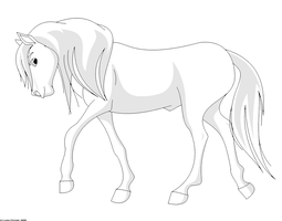 Stallion Lineart - shaded by purapuss