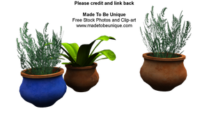 free 3d plants, pots n pottery by madetobeunique