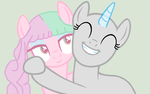 Hugs for Bubblemint [Collab] by CupidAngelWarrior