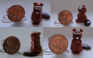 Polymer Clay Beaver by InADream