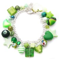 Green Charm Bracelet 2 by fairy-cakes