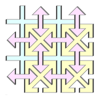 Arrows and crosses tiles by markdow