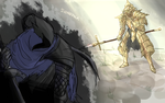 Ornstein and Artorias by Sidhepock