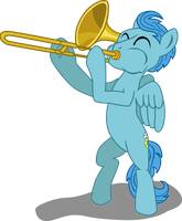 Center Stage with a Trombone by TinkerTie