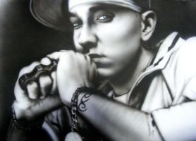 Eminem Airbrush by B-rad-asQ