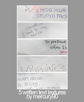 Handwritten Text Textures by Mercury90