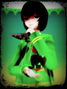 [MMD X Undertale] Chara (DL) by amyolimpet