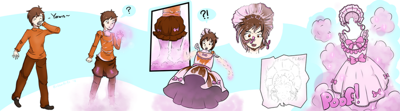 [Art trade] You are now a dress. Congratulations! by rubberfrills